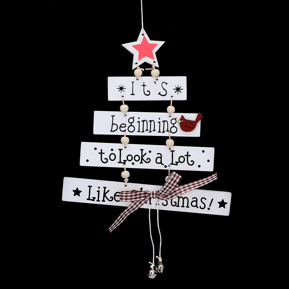 Christmas-Decorations-Tree-Ornament-Xmas-Hanging-Accessories-Wooden-DIY-Pendant thumbnail 154