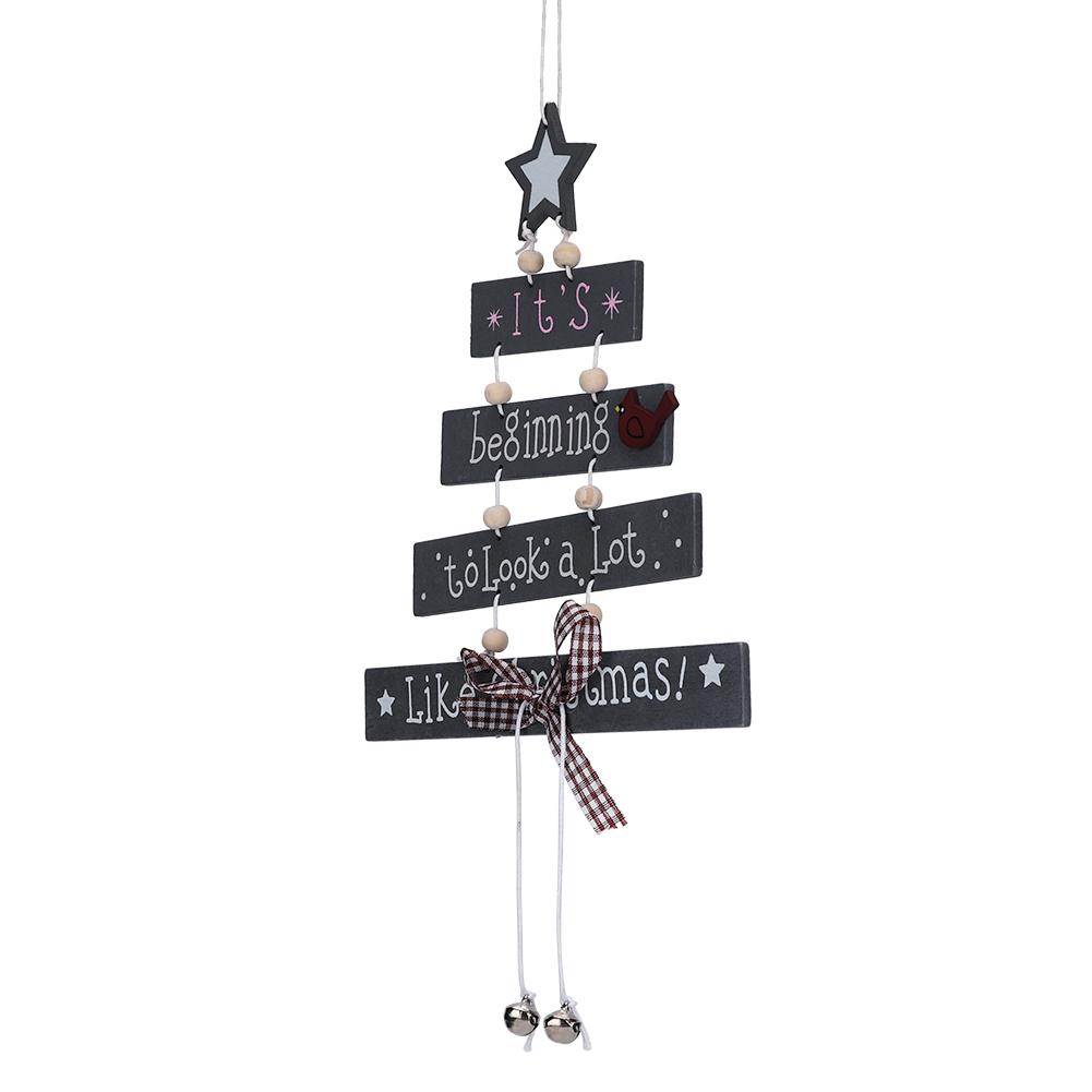 Christmas-Decorations-Tree-Ornament-Xmas-Hanging-Accessories-Wooden-DIY-Pendant thumbnail 157