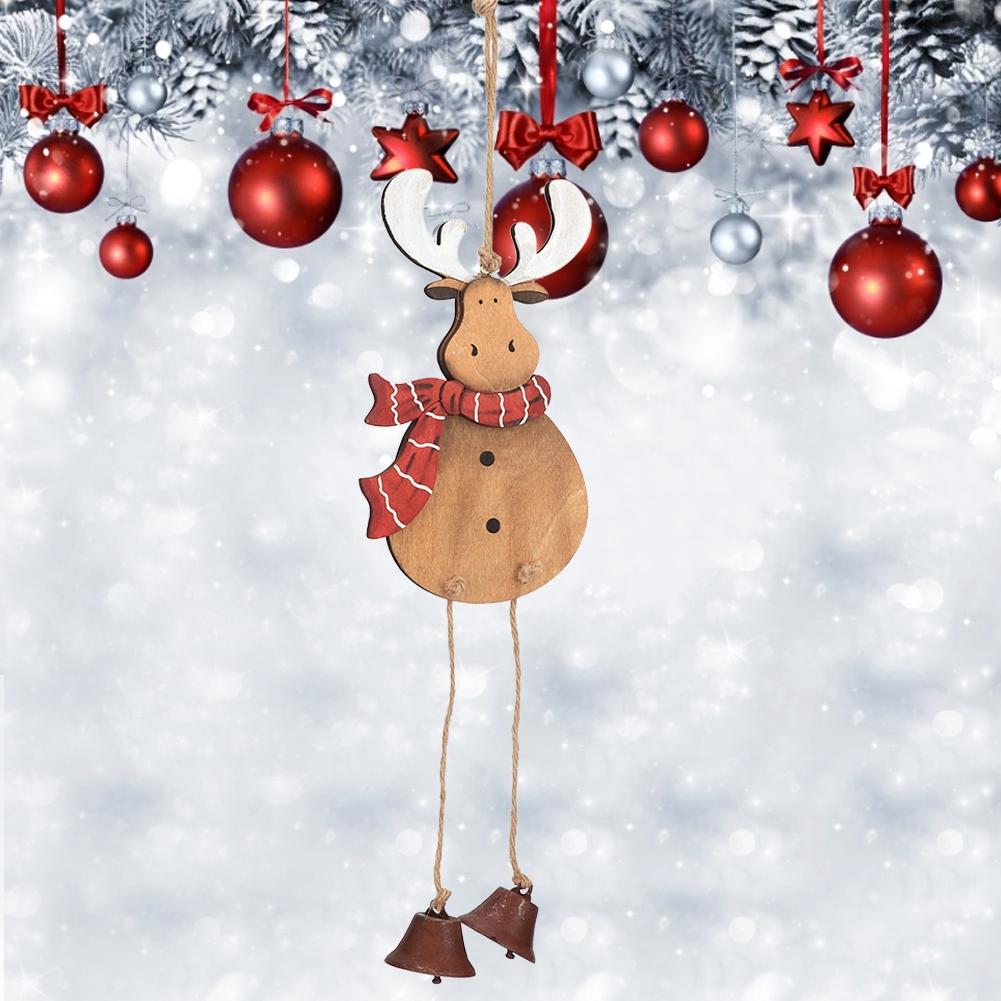 Christmas-Decorations-Tree-Ornament-Xmas-Hanging-Accessories-Wooden-DIY-Pendant thumbnail 160