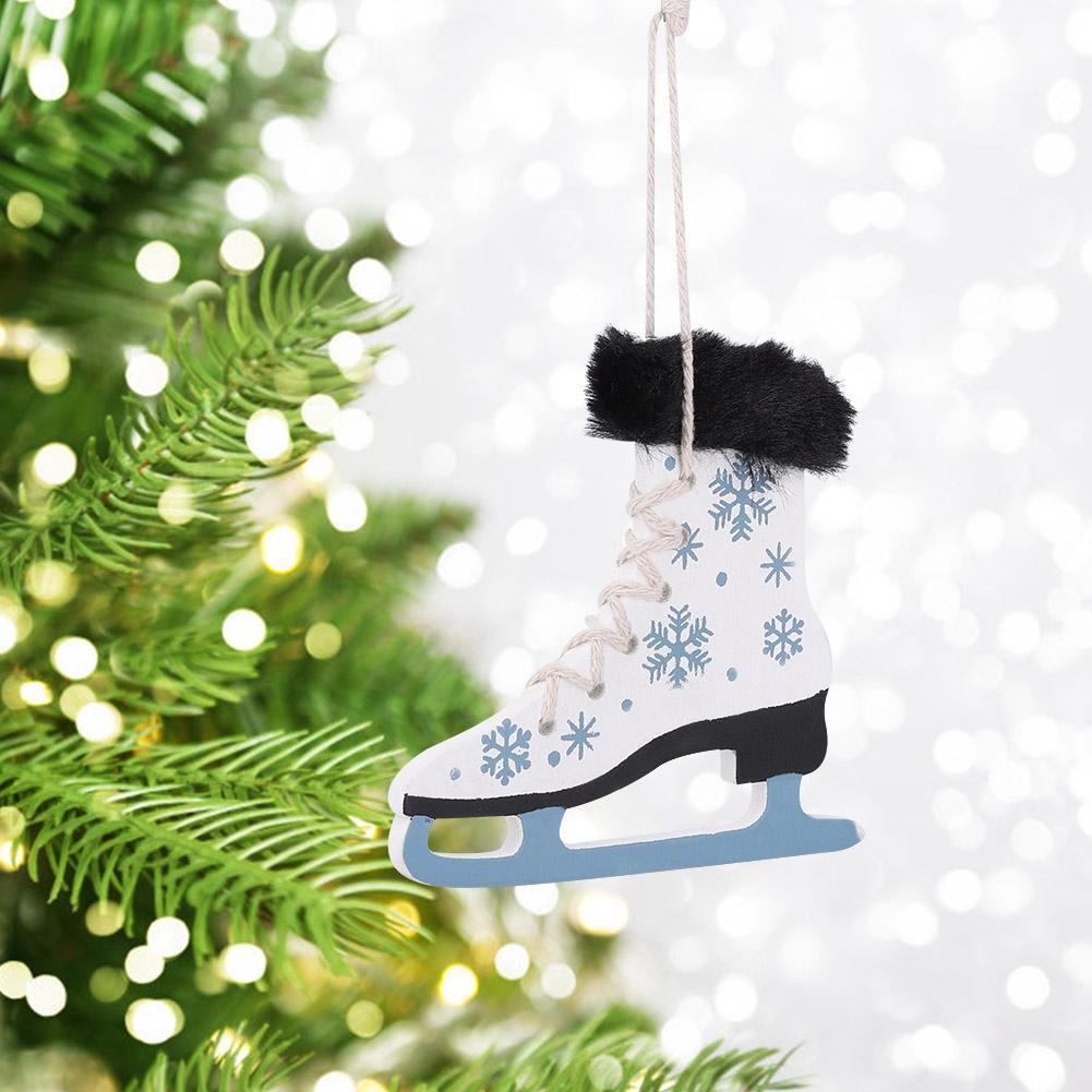 Christmas-Decorations-Tree-Ornament-Xmas-Hanging-Accessories-Wooden-DIY-Pendant thumbnail 167