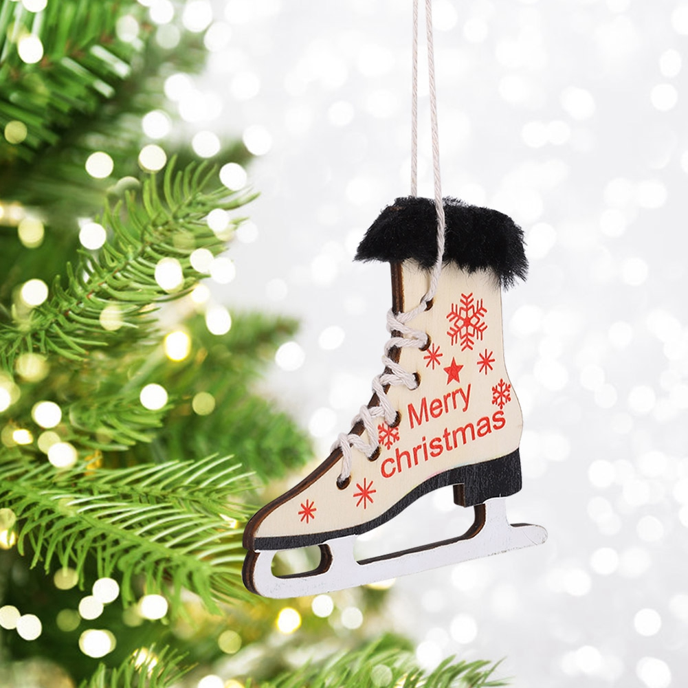 Christmas-Decorations-Tree-Ornament-Xmas-Hanging-Accessories-Wooden-DIY-Pendant thumbnail 170