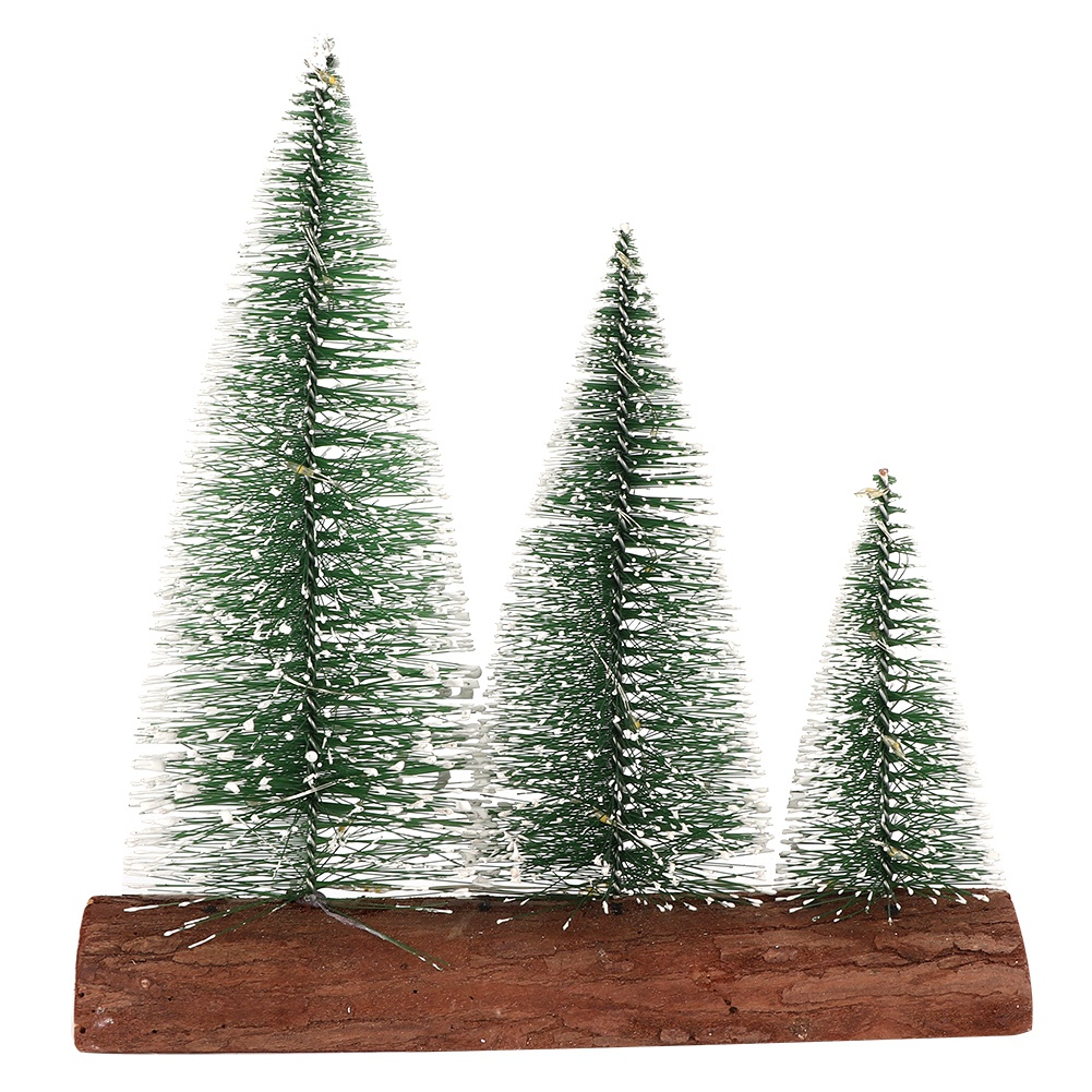 LED-Mini-Sisal-Christmas-Trees-Ornament-Snow-Frost-Small-Pine-Tree-XMAS-Decor thumbnail 30