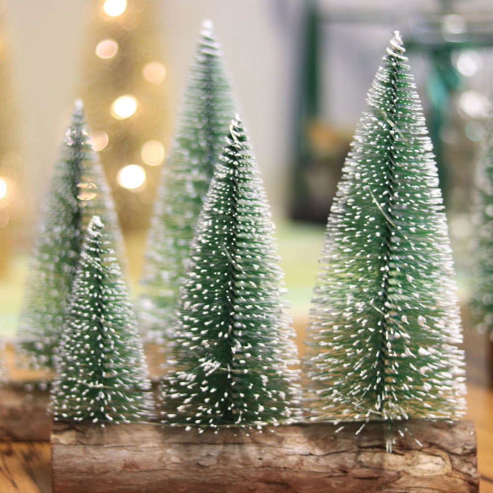 LED-Mini-Sisal-Christmas-Trees-Ornament-Snow-Frost-Small-Pine-Tree-XMAS-Decor thumbnail 29