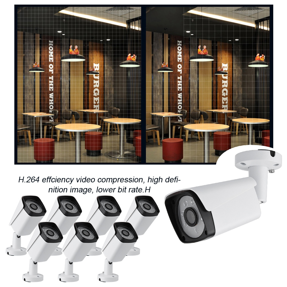 8x-8CH-AHD-DVR-CCTV-IR-Cut-Security-IR-Camera-System-Home-Outdoor-Surveillance miniature 24