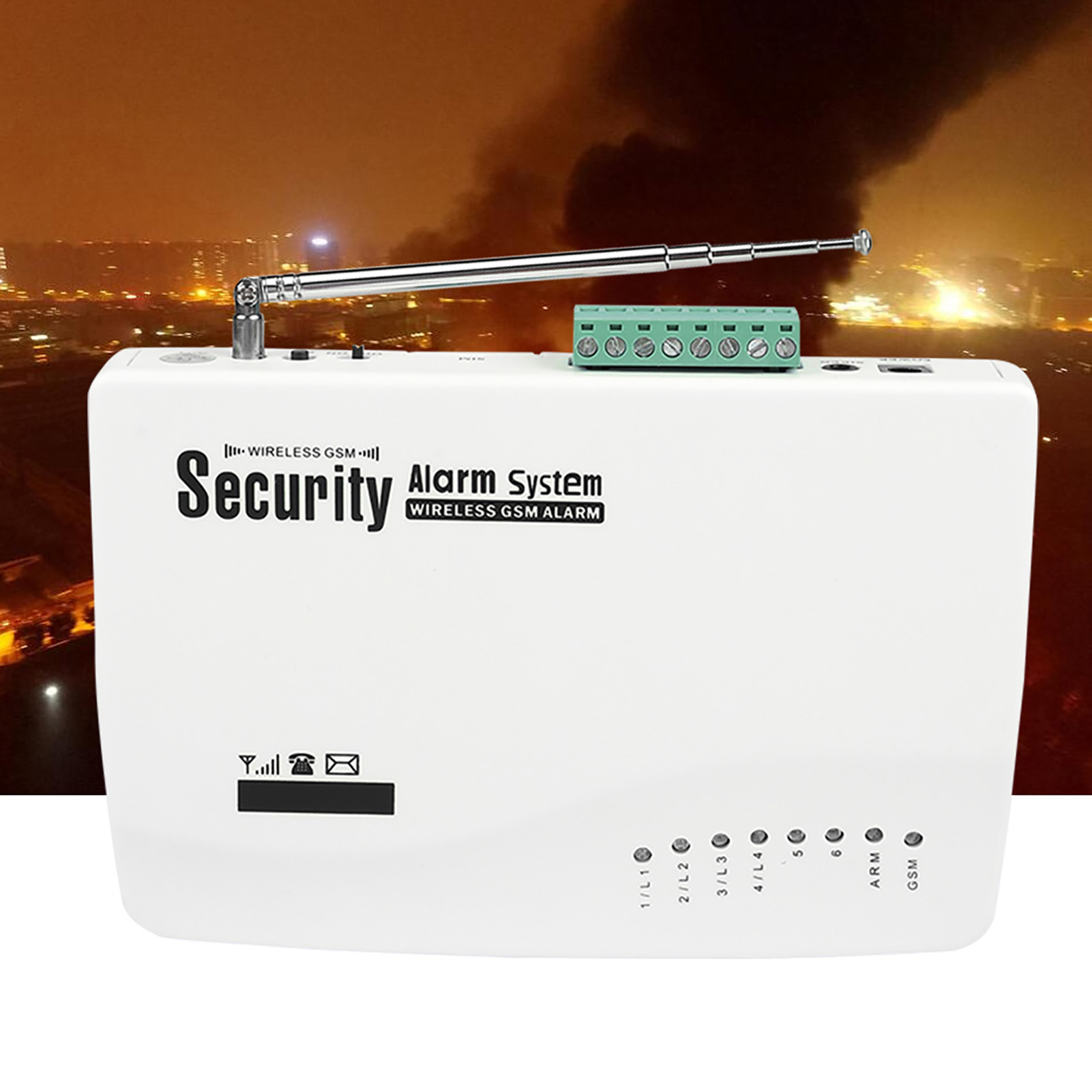Wireless GSM SMS Autodial Burglar Intrude Home Office Security Alarm System PIR