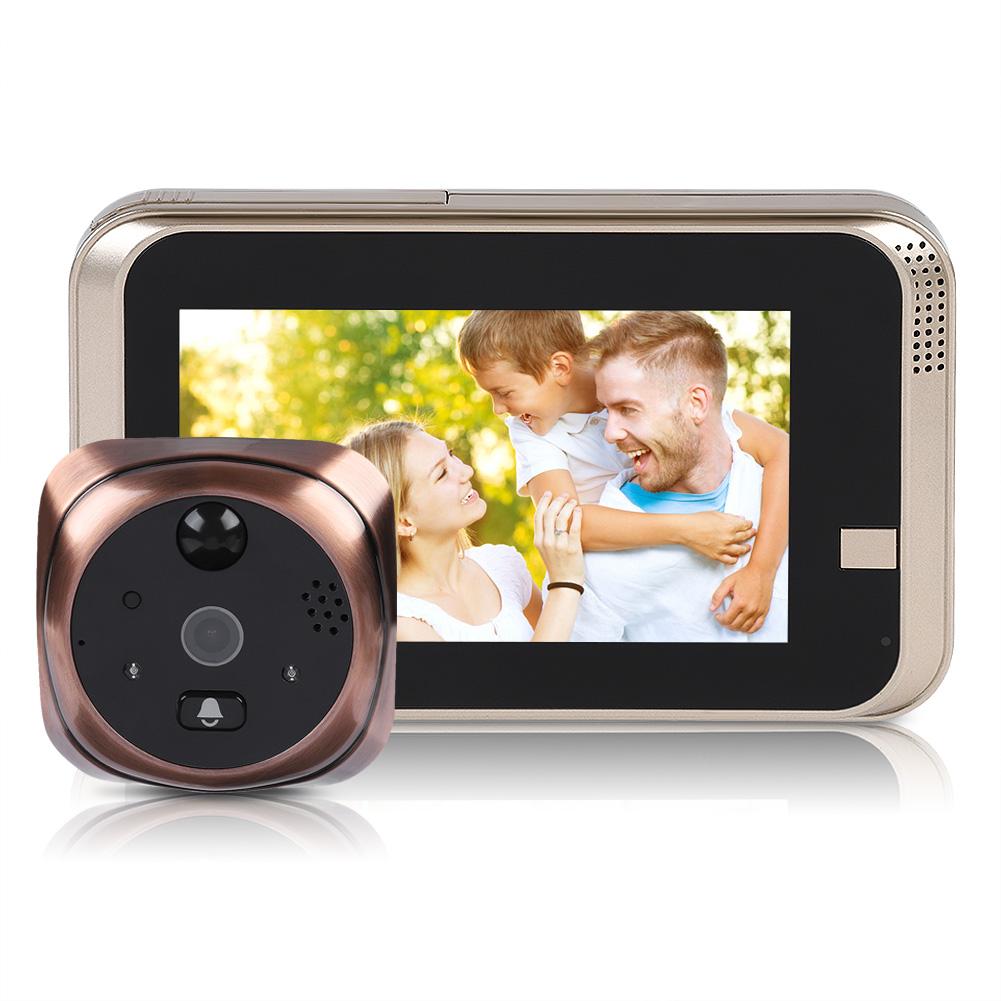 2-8-4-3-034-LCD-Peephole-Viewer-166-Door-Eye-Security-Doorbell-WIFI-IR-720P-Camera