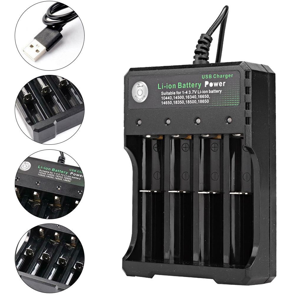 Portable-1-2-3-4-Slots-Smart-Battery-Charger-Rechargeable-Battery-USB-Charging thumbnail 37