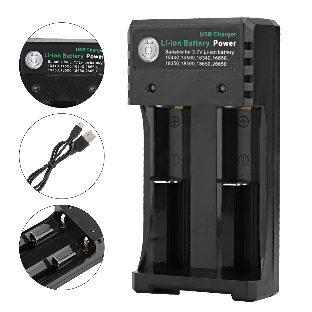 Portable-1-2-3-4-Slots-Smart-Battery-Charger-Rechargeable-Battery-USB-Charging thumbnail 27