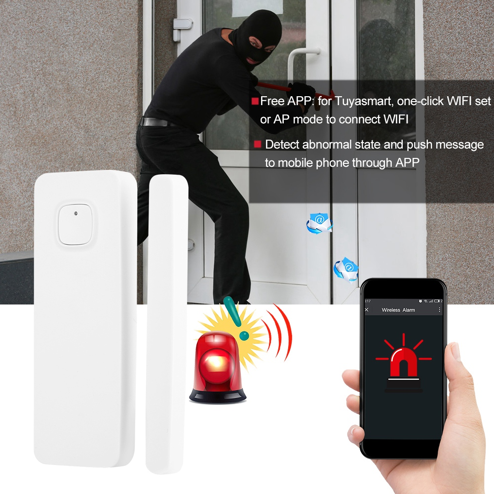 WiFi-Door-Window-Sensor-2-4Ghz-Home-Security-Detector-Support-for-Google-Home thumbnail 14