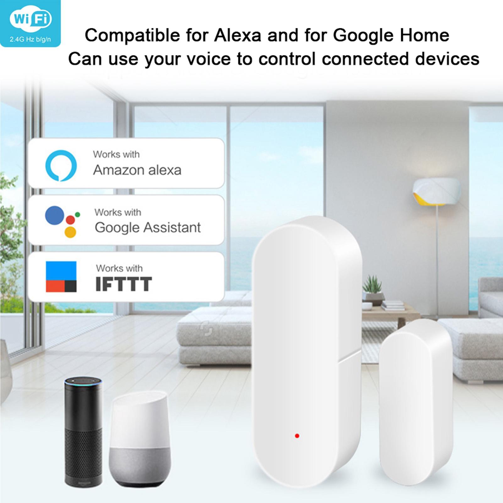 WiFi-Door-Window-Sensor-2-4Ghz-Home-Security-Detector-Support-for-Google-Home thumbnail 39
