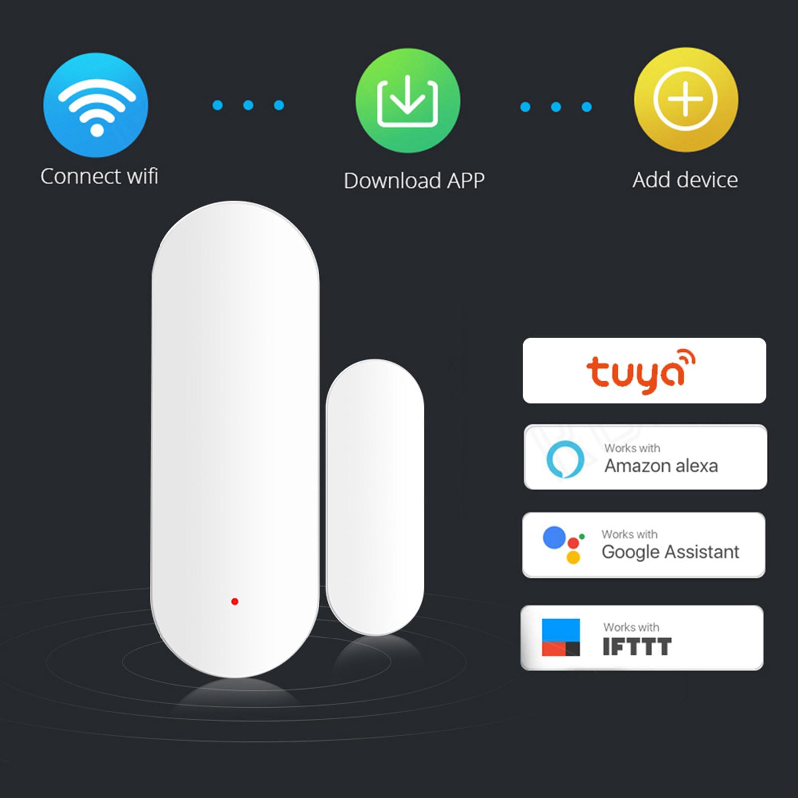 WiFi-Door-Window-Sensor-2-4Ghz-Home-Security-Detector-Support-for-Google-Home thumbnail 40