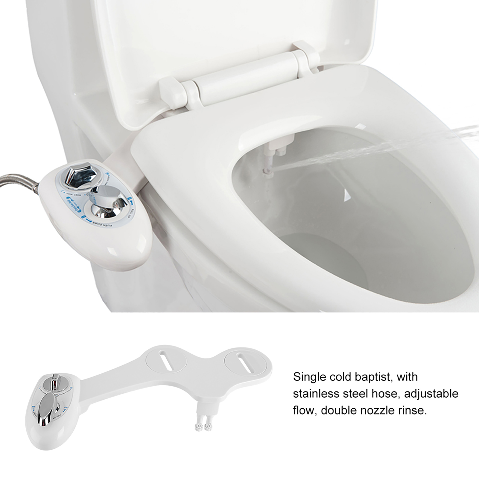 Toilet Bidet Seat Spray Hygeian Water Clean Unisex