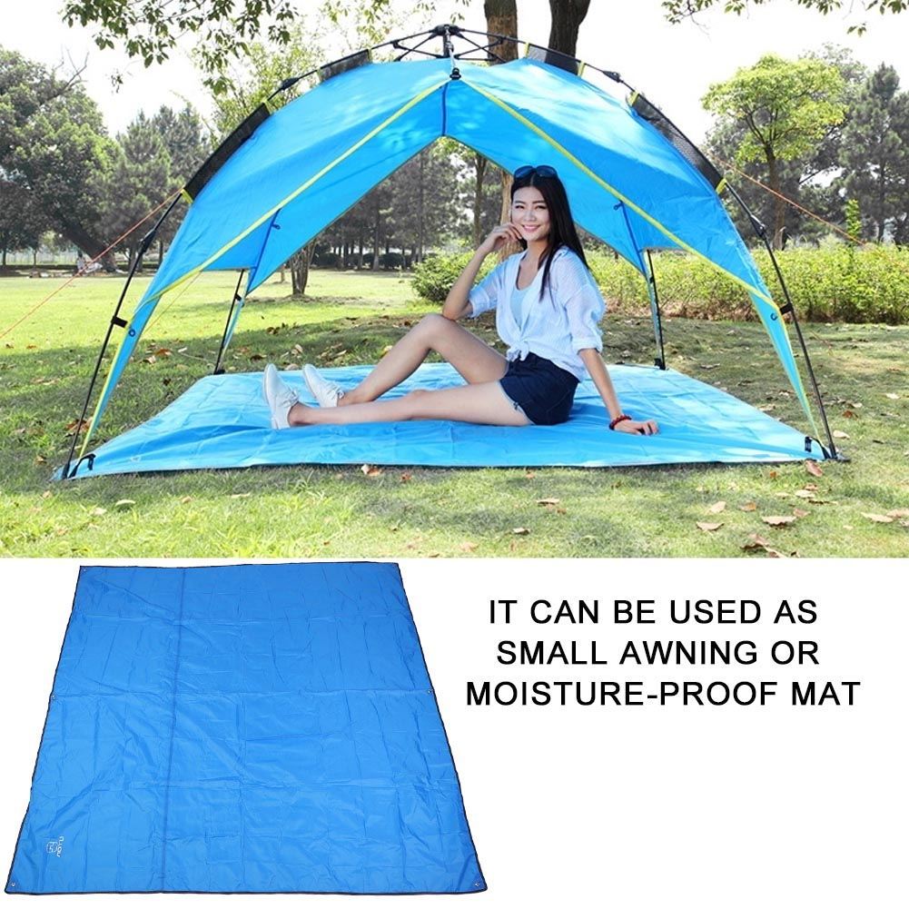 215X215CM-Camping-Rain-Moisture-Proof-Ground-Sheet-Tent-Awning-Cover-Mat-Cushion thumbnail 14