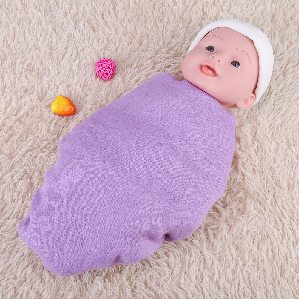 Newborn-Baby-Infant-Toddler-Photographie-Photo-Props-Wrap-Sleeping-Swaddle-Blanke miniature 20
