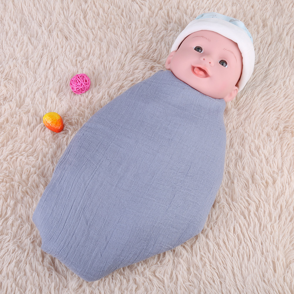 Newborn-Baby-Infant-Toddler-Photographie-Photo-Props-Wrap-Sleeping-Swaddle-Blanke miniature 26
