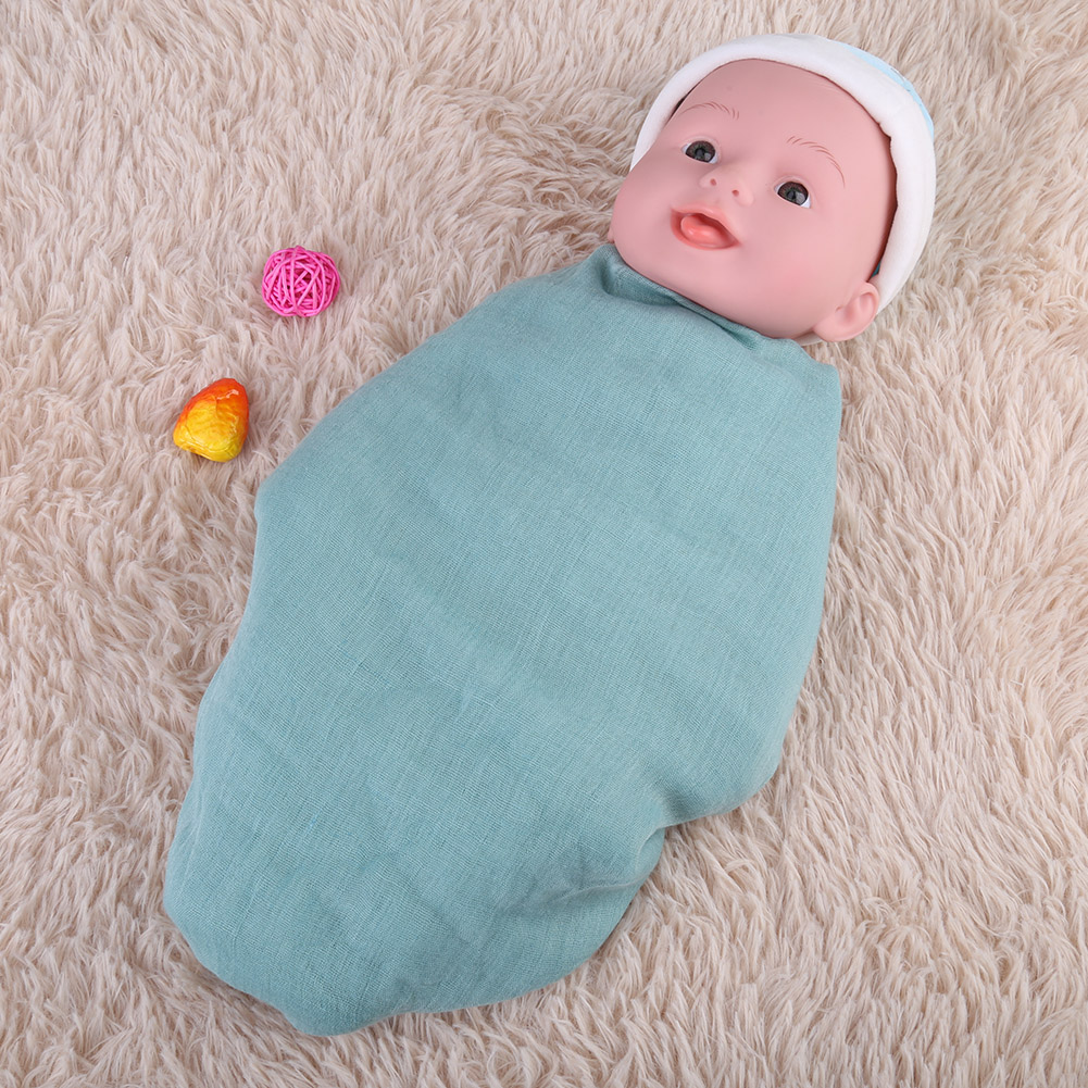Newborn-Baby-Infant-Toddler-Photographie-Photo-Props-Wrap-Sleeping-Swaddle-Blanke miniature 32