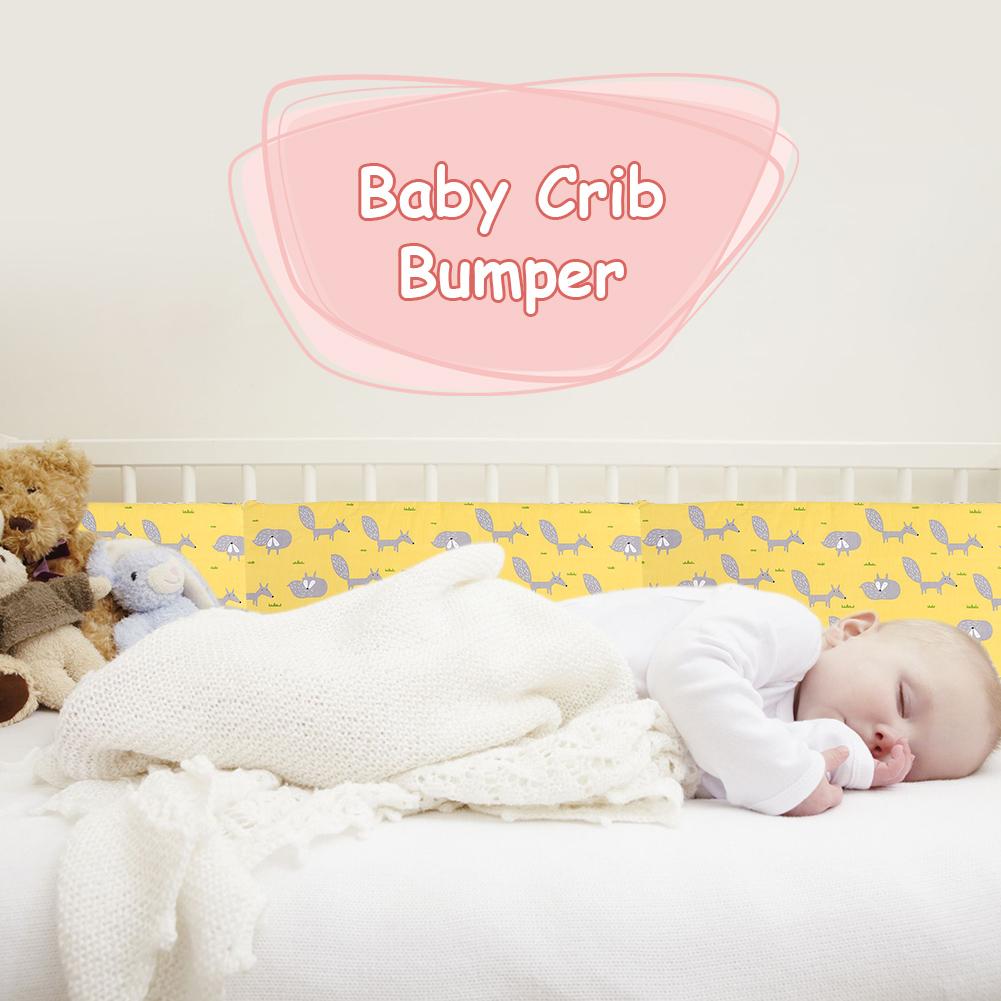 Baby-Soft-Crib-Bumper-Set-Infant-Bed-Cot-Mattress-Pillow-Cartoon-Nursery-Bedding