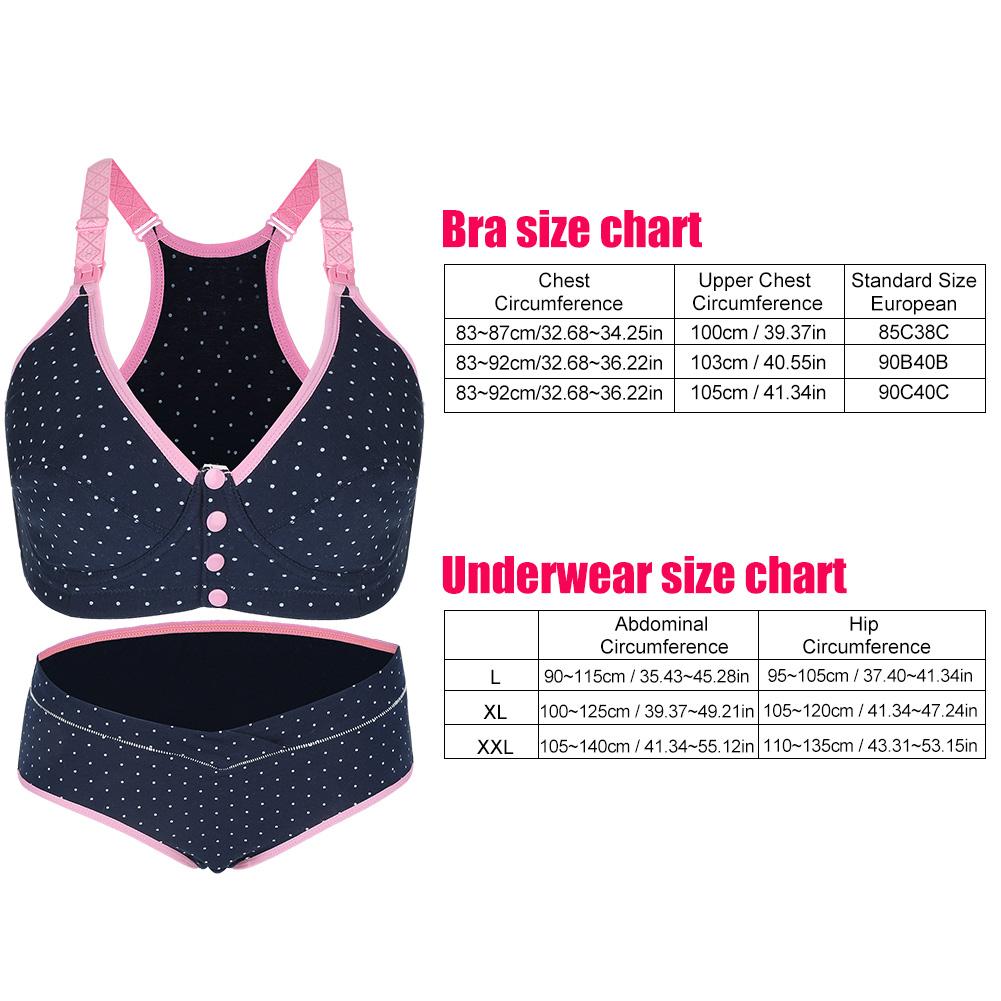 3Sizes-Women-Nursing-Panties-Front-Buckle-Maternity-Breastfeeding-Pregnant-Bra