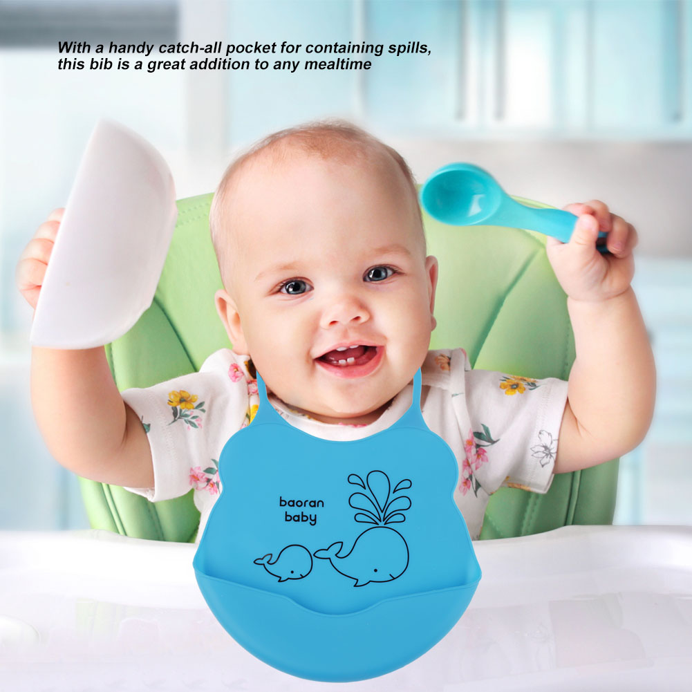 Lovely-Infant-Baby-Kid-Silicone-Cartoon-Bib-Baby-Lunch-Feeding-Bibs-Waterproof