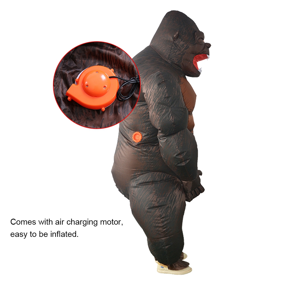 Inflatable-Gorilla-Costume-King-Kong-Halloween-Fancy-Dress-  sc 1 st  eBay & Inflatable Gorilla Costume King Kong Halloween Fancy Dress Cosplay ...
