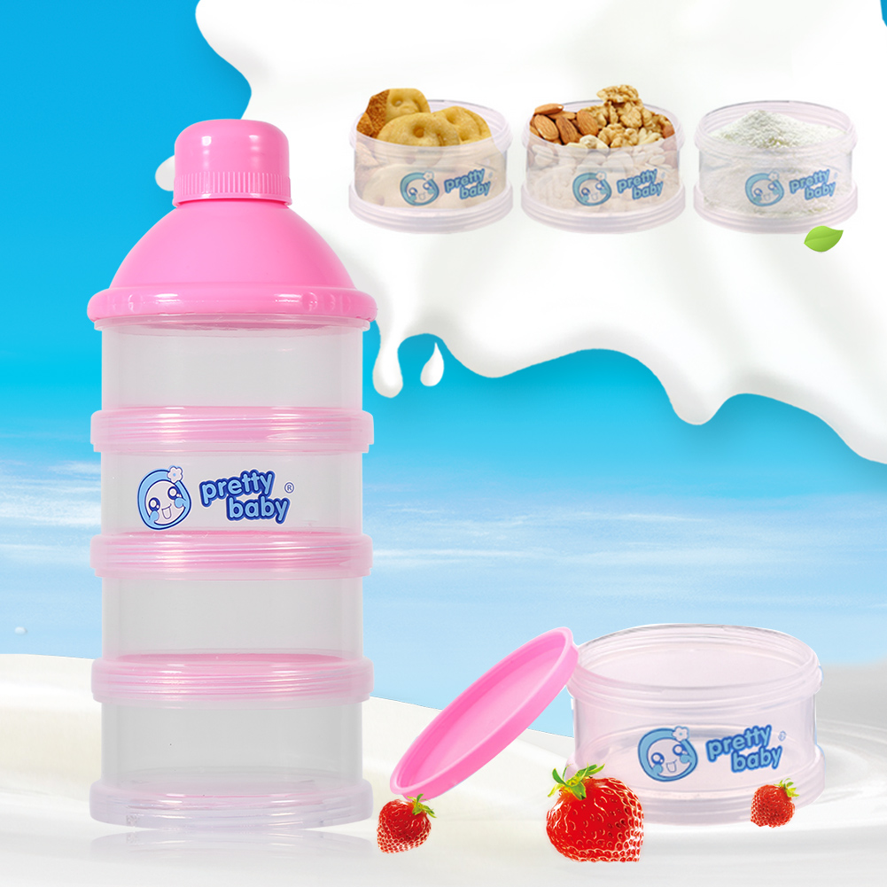 4 Layers Infant Baby Milk Powder Formula Dispenser