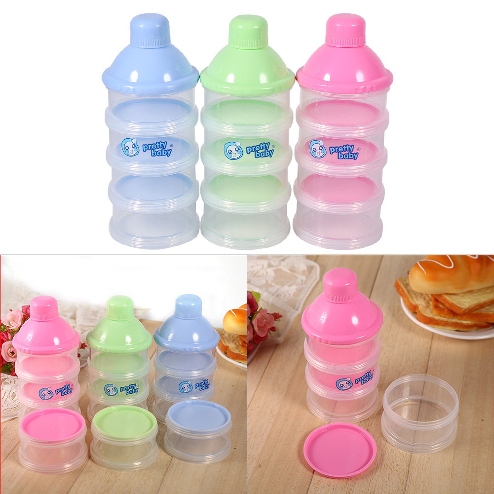 Image Is Loading 4 Layers Infant Baby Milk Powder Formula Dispenser