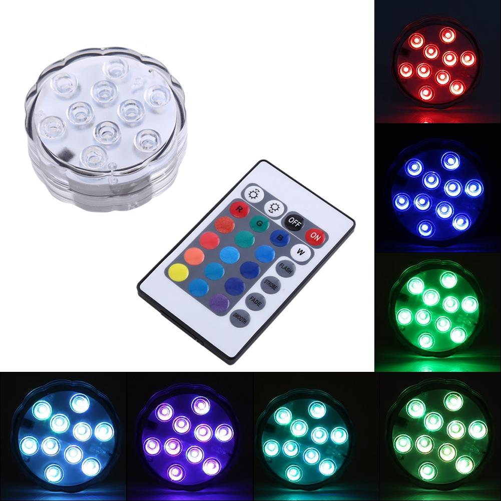 10 LED bunte RGB Fernbedienung wasserdichte Aquarium Lichter Dekor ...