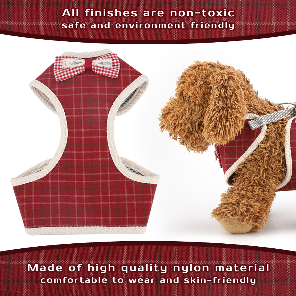 New-Small-Large-Dog-Soft-Adjustable-Harness-Pet-Walk-Out-Hand-Strap-Vest-Collar thumbnail 14