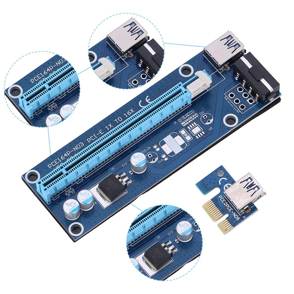 Express-1x-to-16x-USB-3-0-PCI-E-Extensor-Riser-Tarjeta-Adaptador-Cable-para-BTC