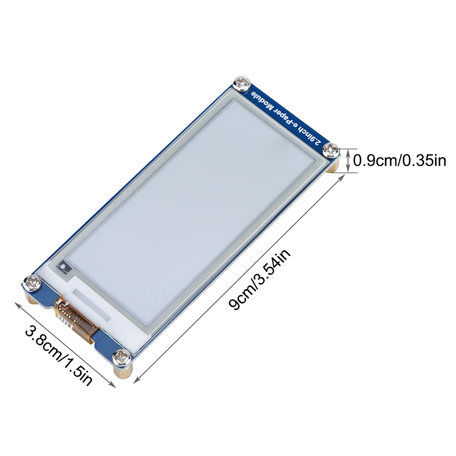 Quot e ink paper display module board for