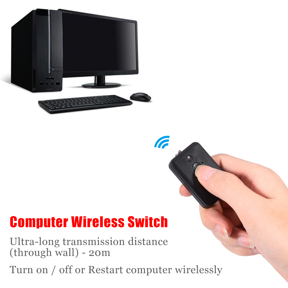 Turn On Computer : Wireless desktop pc power reset switch turn on off remote