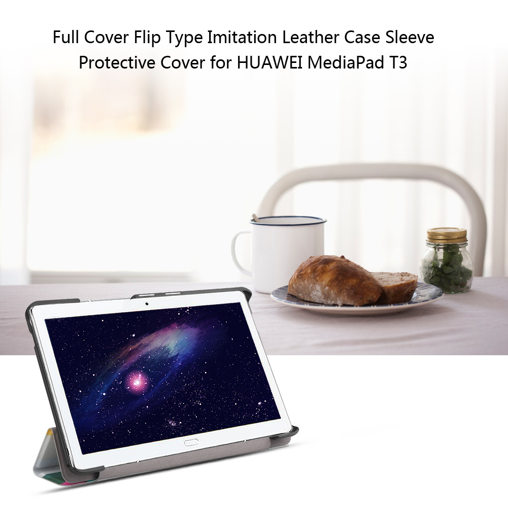 For-Huawei-MediaPad-M3-T3-7-034-8-034-10-034-Tablet-Smart-PU-Leather-Case-Stand-Cover-ZZ miniature 77