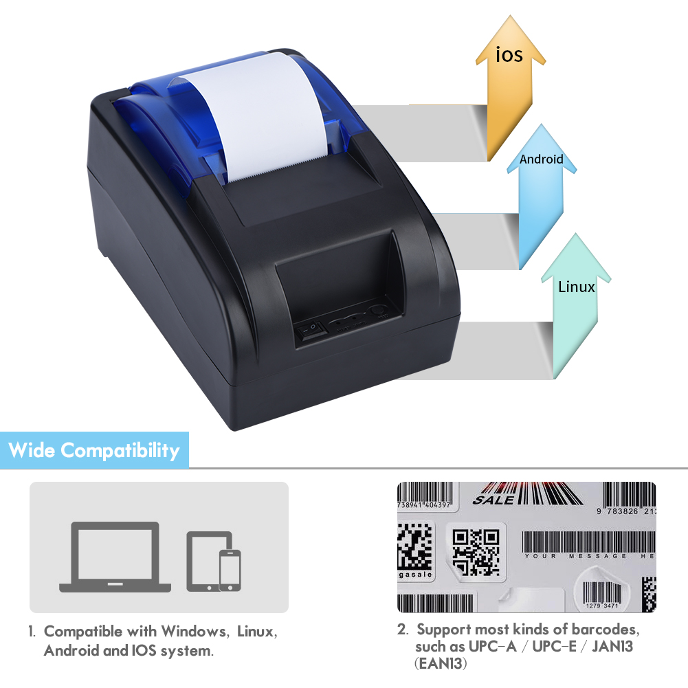 USB-Mini-58MM-Thermal-Printer-Receipt-Printer-Machine-90mm-sec-for-Windows-iOS-W