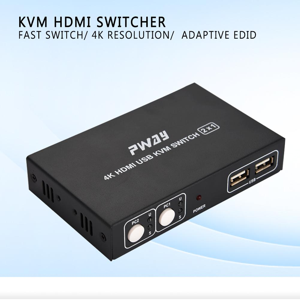 Ultra Hd 2 4 8 Port Usb 20 Hdmi Kvm Switch Switcher Box Support 4k Way