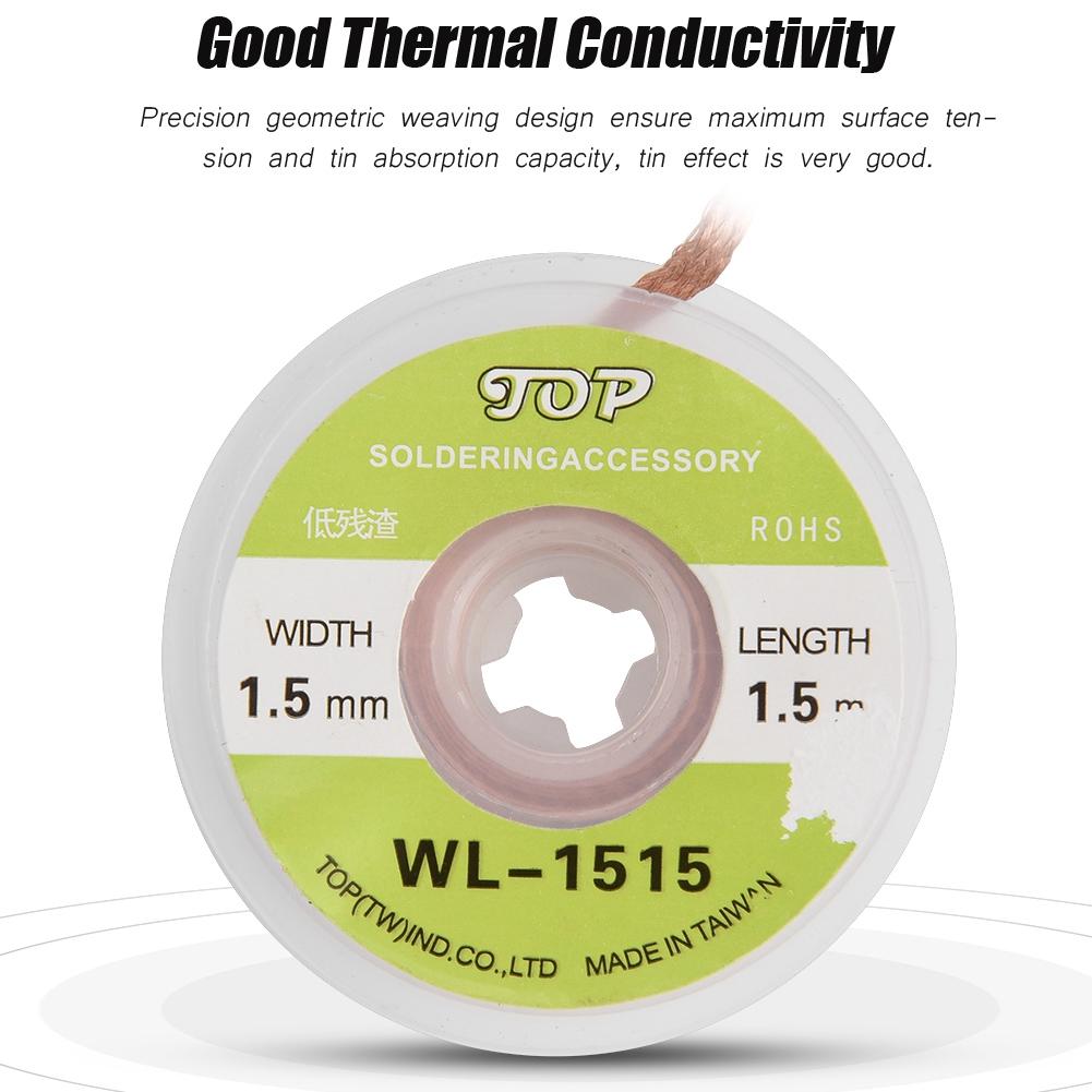 5pcs Copper Soldering Wick BGA Desoldering Wire Braid Solder Remover Belt Wire