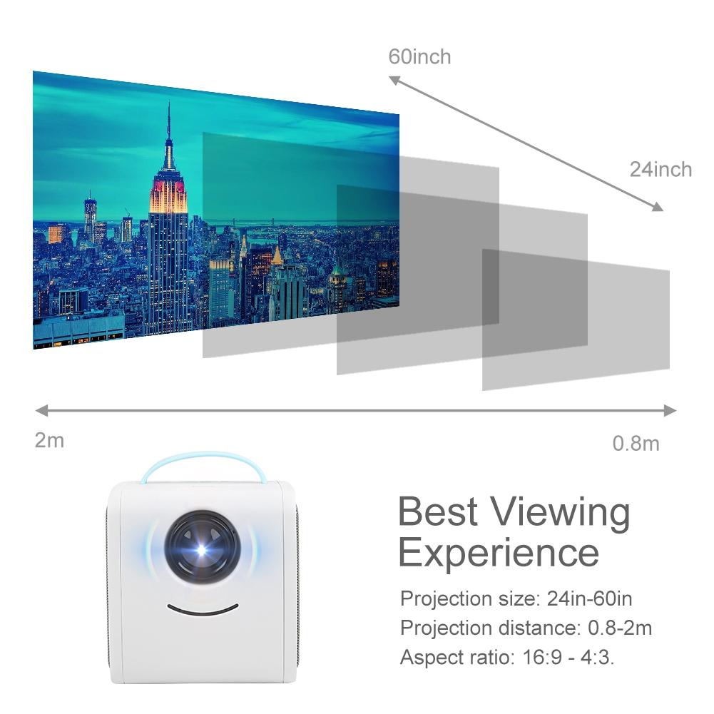 Hd Home Theater Multimedia Lcd: Portable Projector HD LCD LED Mini Multimedia Home Cinema