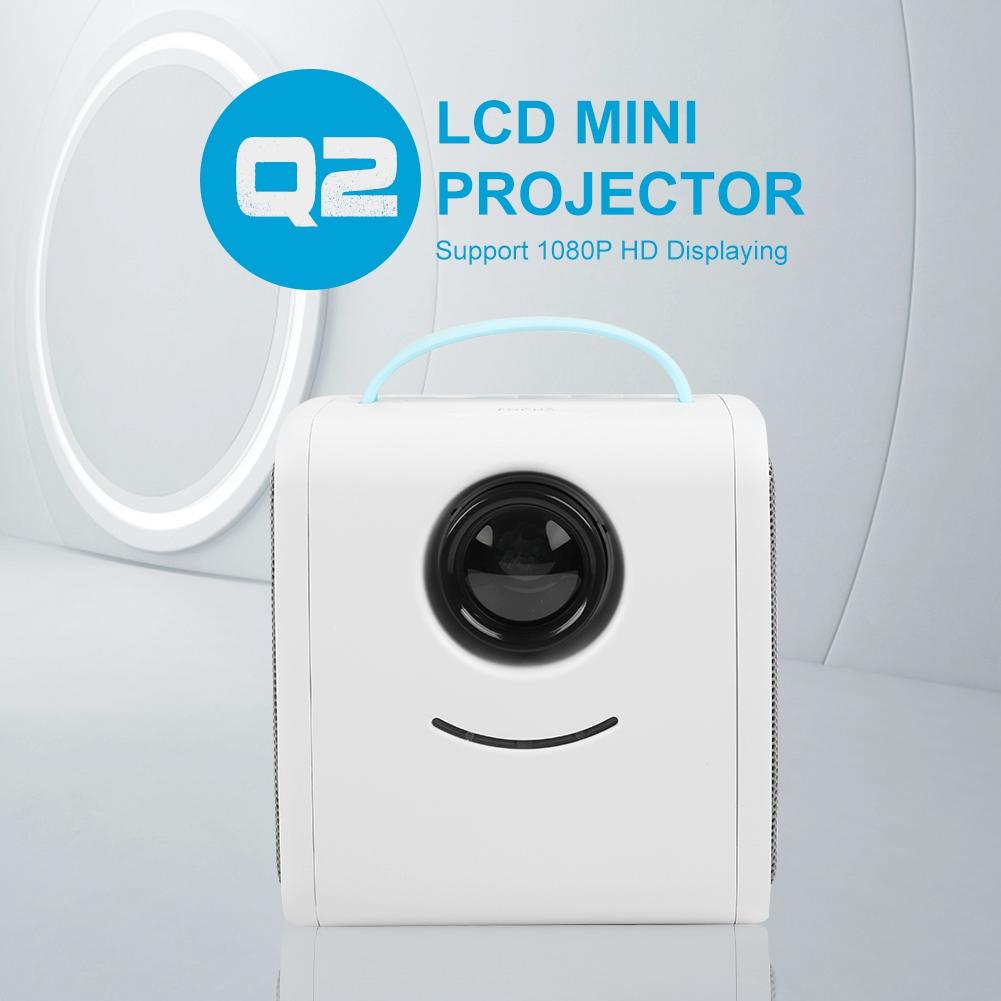 Mini Portable Lcd Multimedia Led Projector Full Hd 1080p: Portable Projector HD LCD LED Mini Multimedia Home Cinema