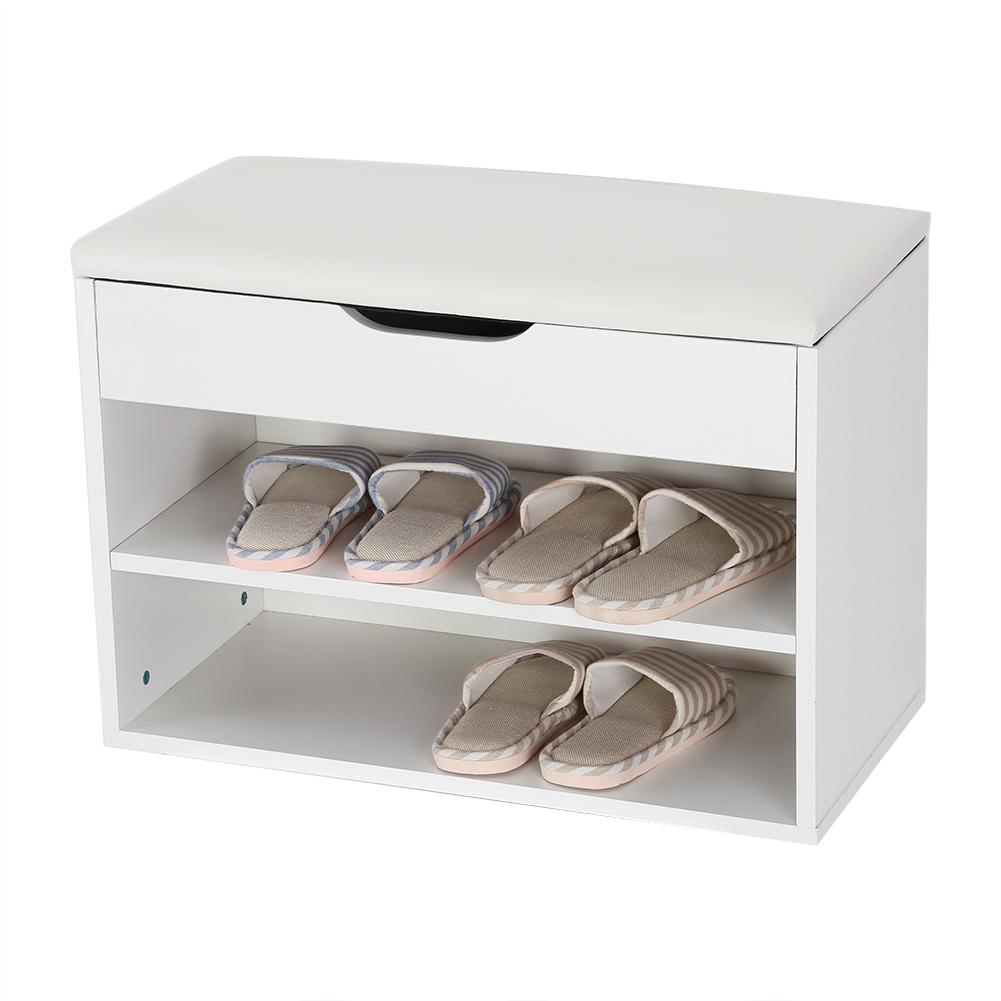 3 niveles banco zapatero de almacenaje zapatos con asiento for Zapatero para 30 pares de zapatos