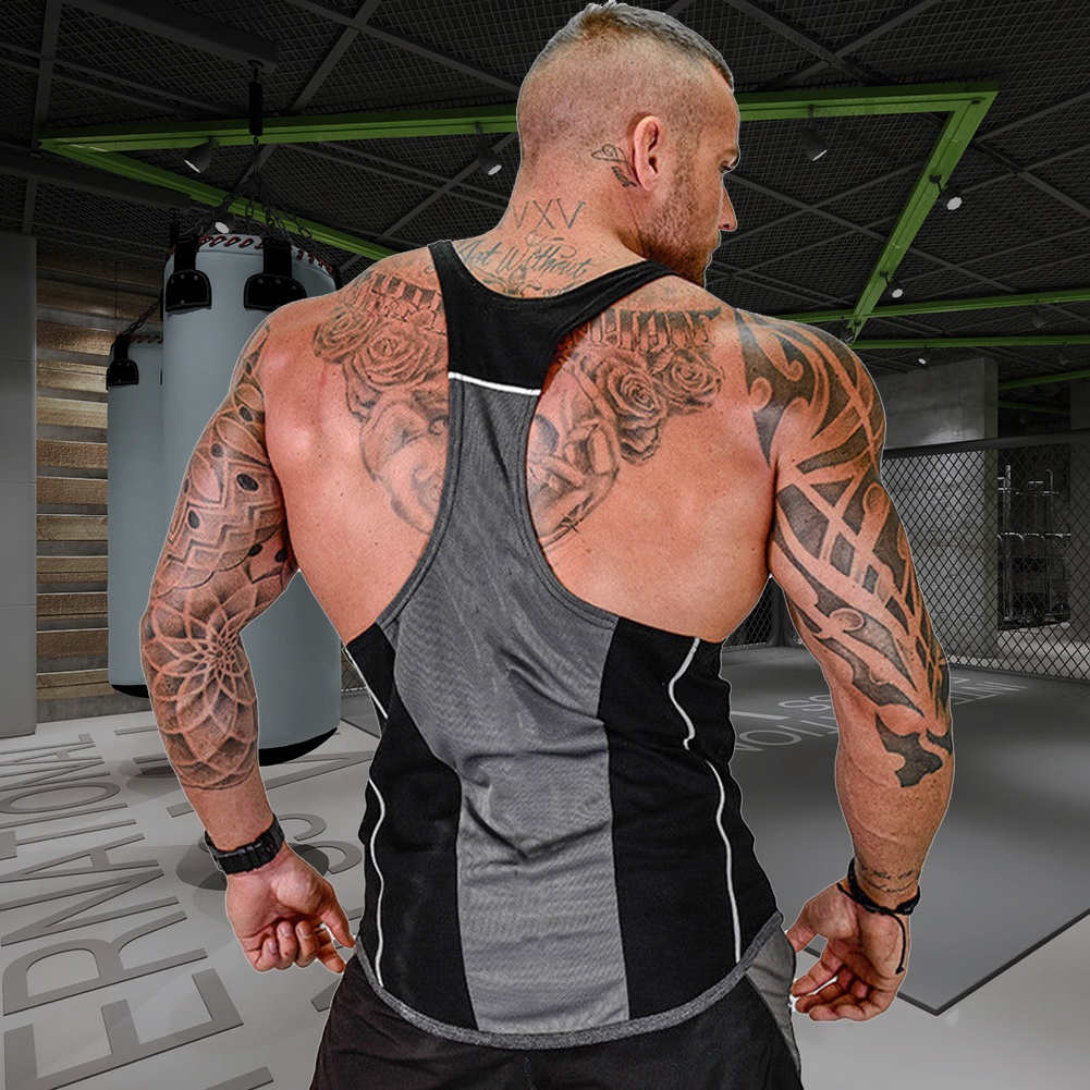 Men-039-s-Bodybuilding-Muscle-Tank-Top-Sleeveless-Gym-Sport-Fitness-Singlet-T-shirt
