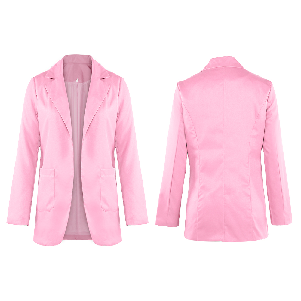 Business-Turn-Down-Collar-Suit-Women-Jacket-Coats-Formal-Slim-Blazer-Overcoats thumbnail 14