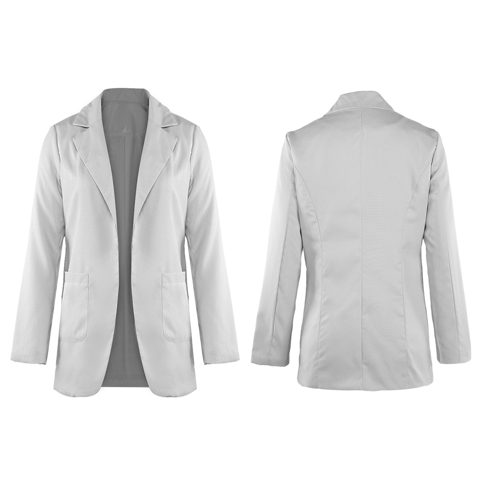 Business-Turn-Down-Collar-Suit-Women-Jacket-Coats-Formal-Slim-Blazer-Overcoats thumbnail 16