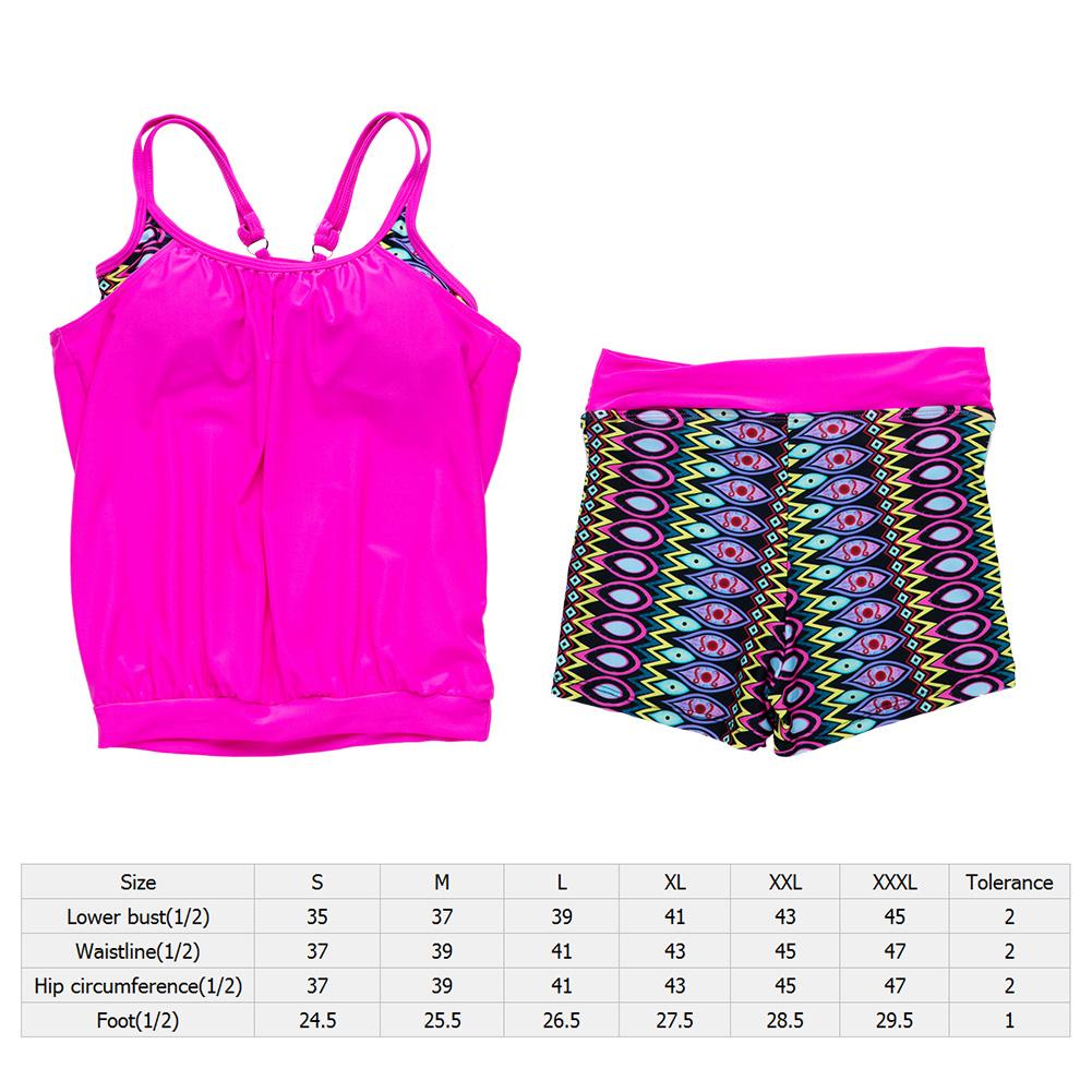 Summer-Women-Sports-Bikini-Tankini-Boyshort-Swimsuit-Short-Swimwear-Wireless-Set thumbnail 15