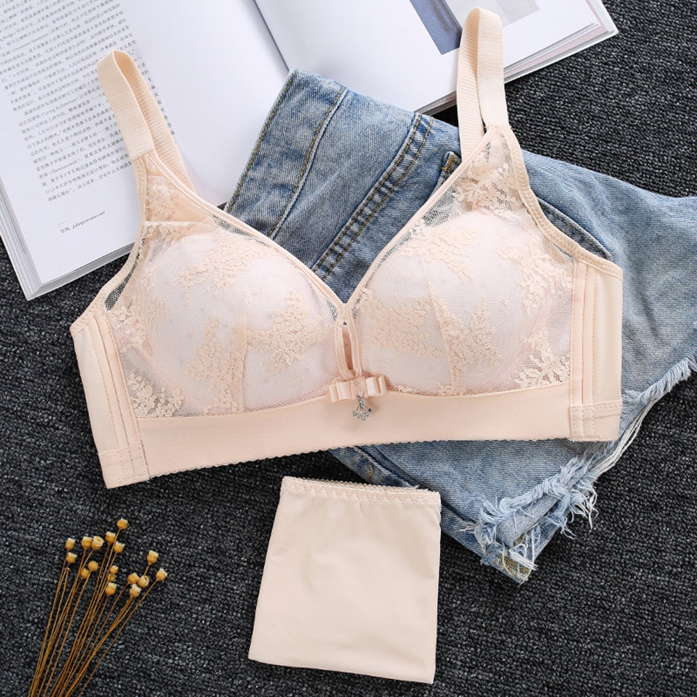 Women-Ladies-Cotton-Wireless-Solid-Color-Breathable-Full-Coverage-Bra-Underwear thumbnail 76