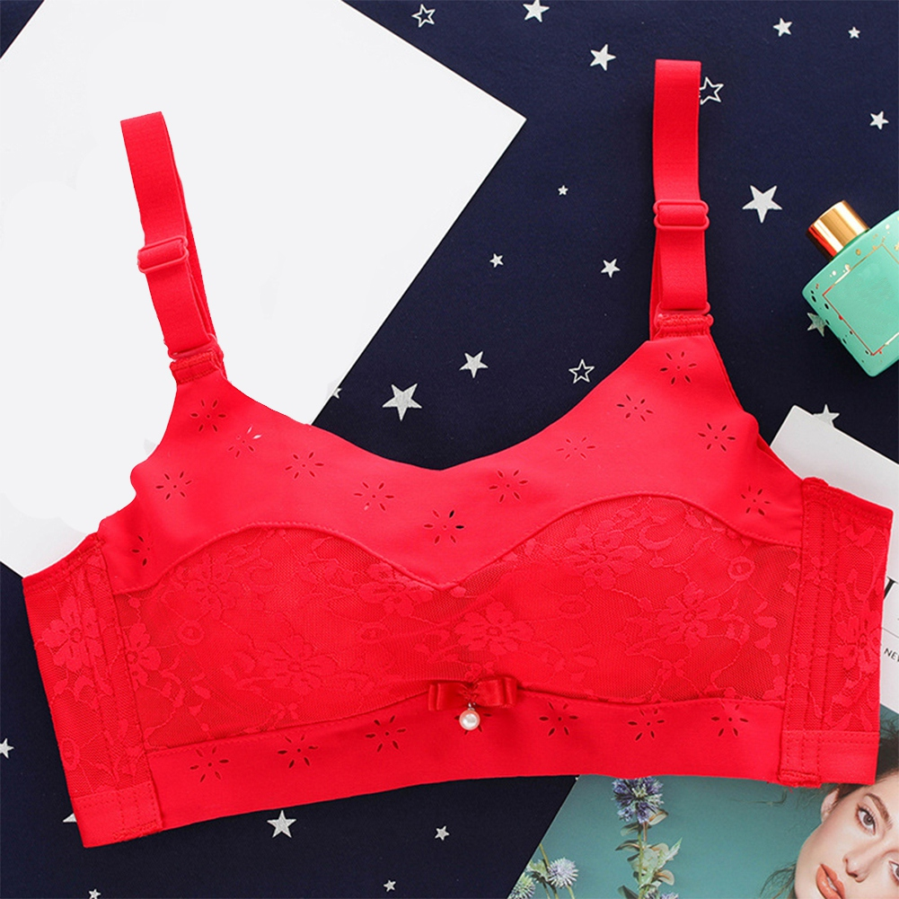 Women-Ladies-Cotton-Wireless-Solid-Color-Breathable-Full-Coverage-Bra-Underwear thumbnail 29