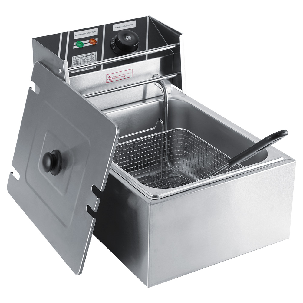 6L Commercial Single Tank Electric Stainless Steel Deep Fat Fryer ...