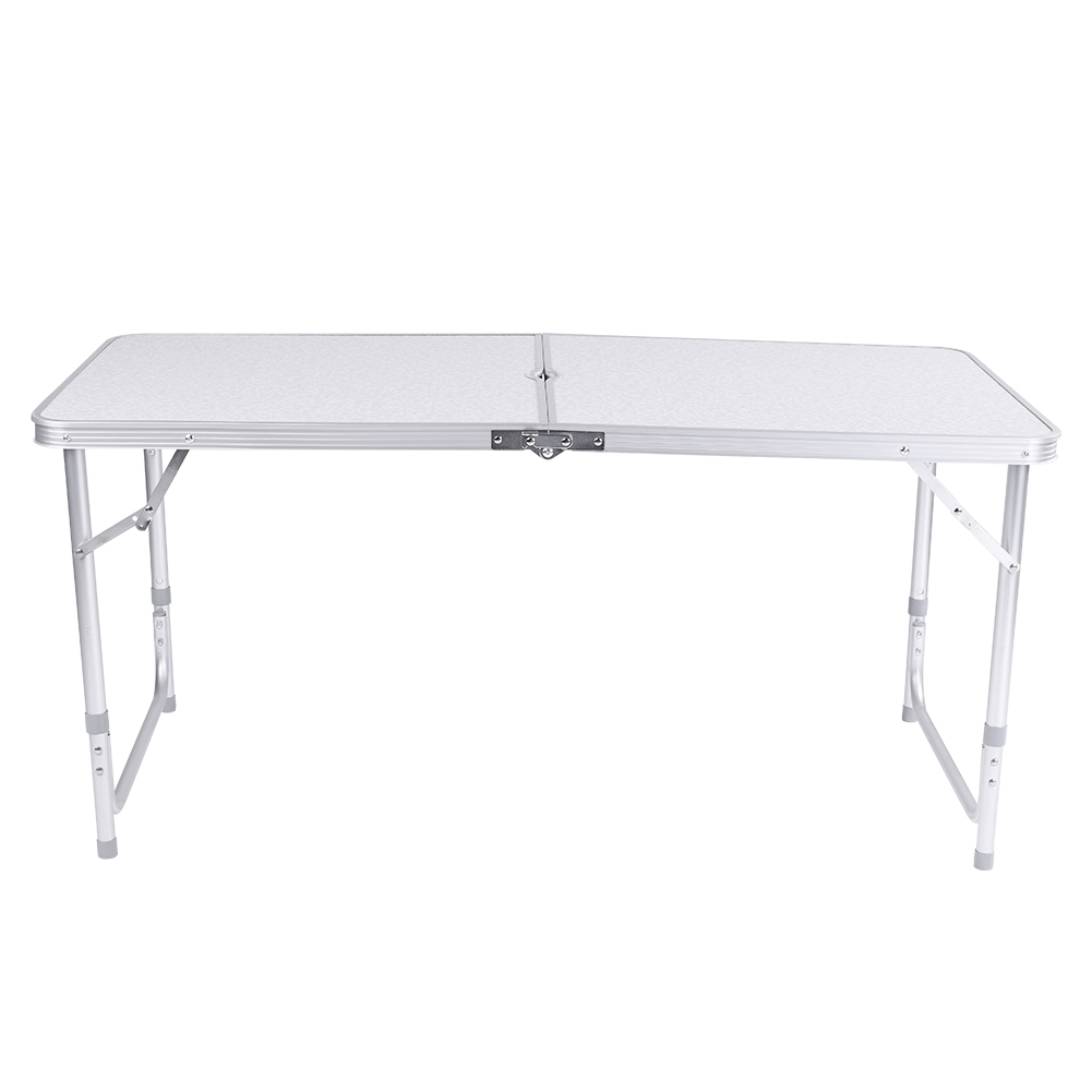 4Ft Camping Catering Heavy Duty Folding Table Trestle Picnic Bbq Party White New 2