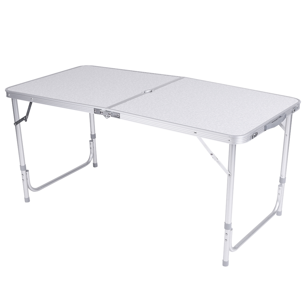 4Ft Camping Catering Heavy Duty Folding Table Trestle Picnic Bbq Party White New 9