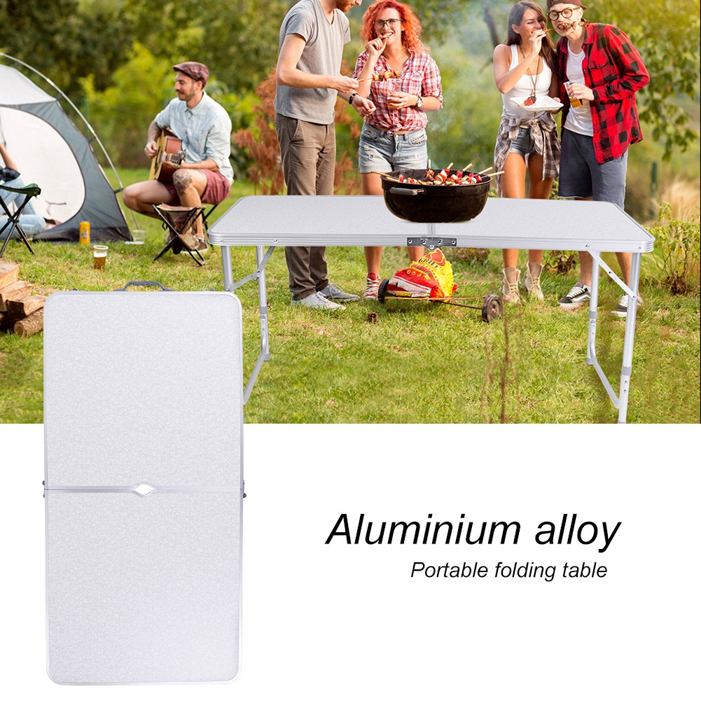 4Ft Camping Catering Heavy Duty Folding Table Trestle Picnic Bbq Party White New 7