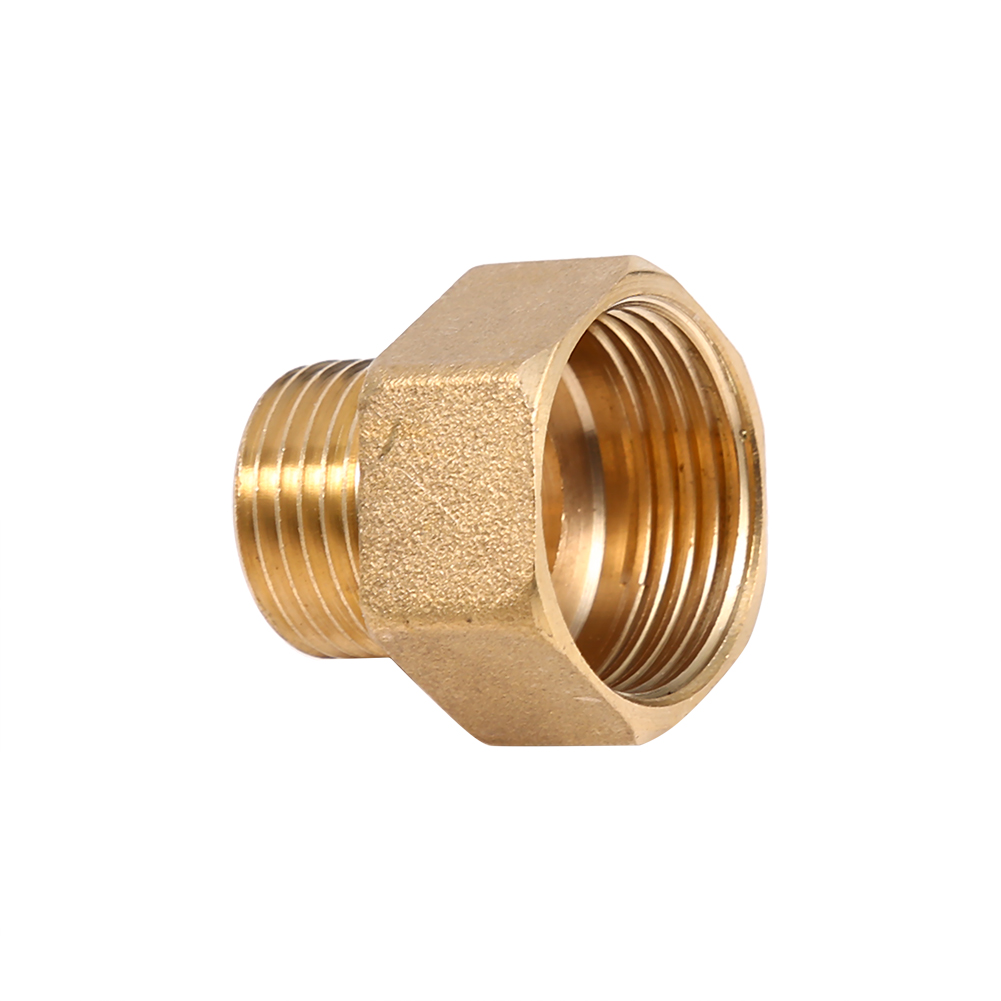 Brass pt male to female thread reducer hex