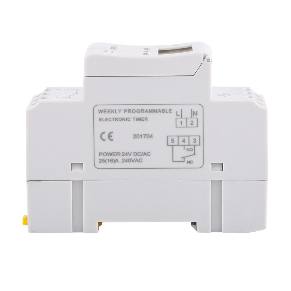 LCD-Programmateur-Minuterie-Numerique-Hebdomadaire-Commutateur-De-Relais miniature 18